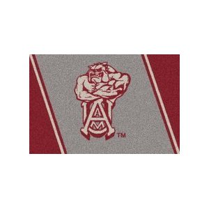 Alabama A & M Bulldogs Team Spirit Area Rug