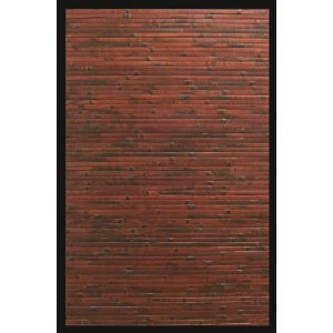 4-Foot-by-6-Foot Cobblestone Bamboo Rug