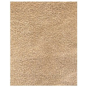 5-Foot-by-8-Foot Silky Shag Beige Rug
