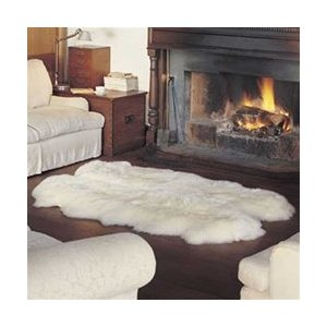 Quad Sheepskin Pelt Rug 4' x 6' from Bowron