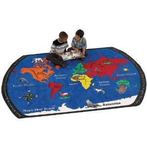 Maps That Teach Area Rug