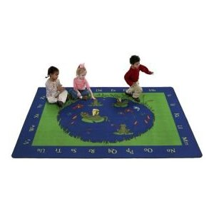 Frogs Classroom Area Rug