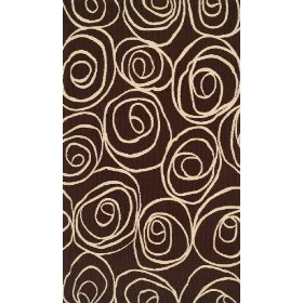 "Brown Area Rug 3'6"" x 5'6""-Harounian Destiny 445"