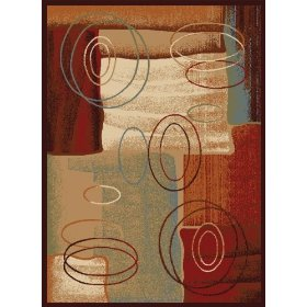 "Madlena Rug: 3282-500 Brown: 5'2""x7'2"" Rectangle"