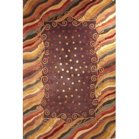 Contemporary 7.9 Round Area Rug-Momeni